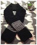 Black and Grey Blanket Scarf